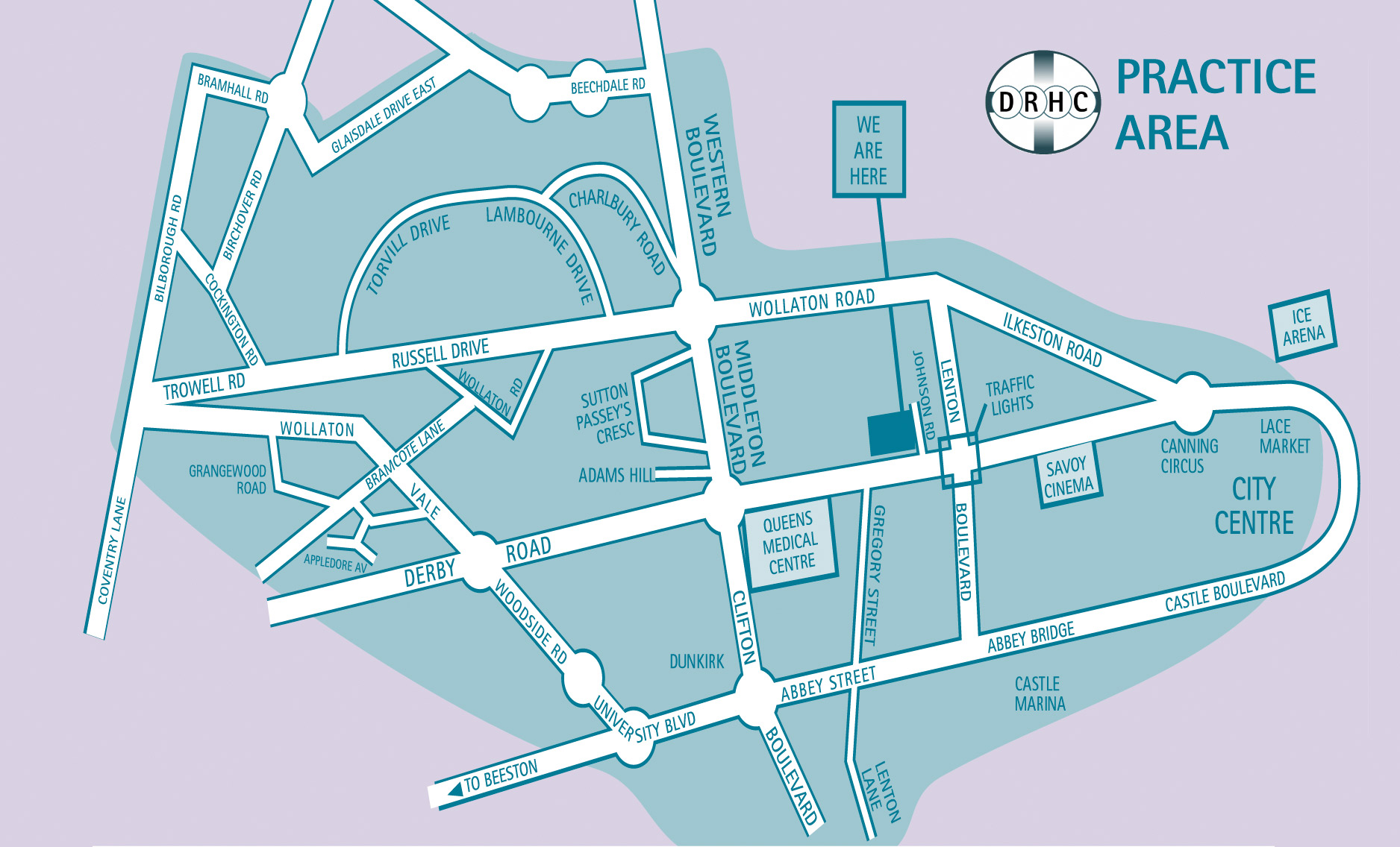 Practice boundary for patient registrations